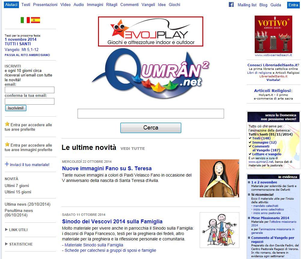 Calendario Liturgico Qumran.Qumran Net Piu Funzionale E Personalizzabile Ufficio Per